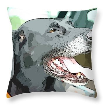 Sweet Amos Throw Pillow by Alice Gipson