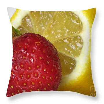Throw Pillow featuring the photograph Sweet And Sour by Nina Silver