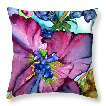 Sweet And Wild In Turquoise And Pink Throw Pillow by Lil Taylor