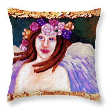 Sweet Angel Throw Pillow by Genevieve Esson