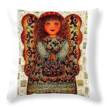 Sweet Angel Throw Pillow by Natalie Holland