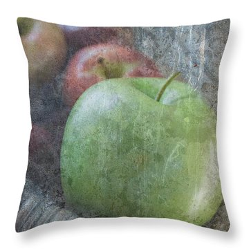 Sweet Apples Throw Pillow by Arlene Carmel