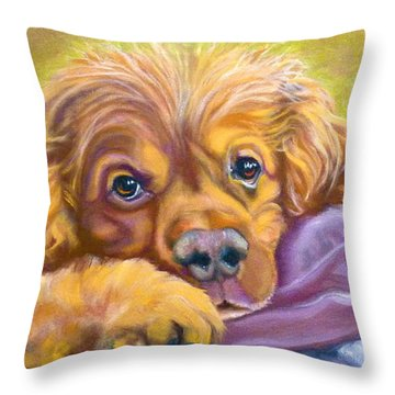 Sweet Boy Rescued Throw Pillow