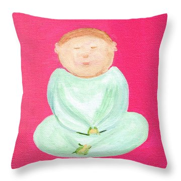 Sweet Buddha Throw Pillow