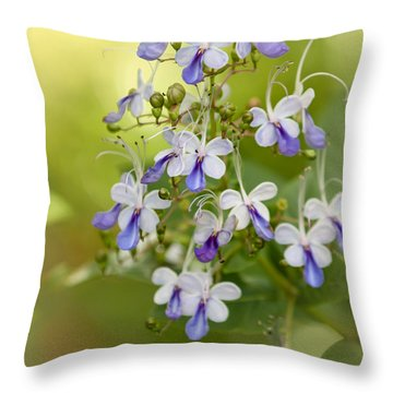 Sweet Butterfly Flowers Throw Pillow