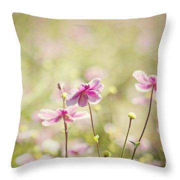 Sweet Butterfly Garden Throw Pillow