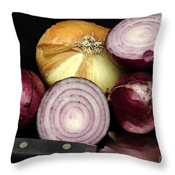 Sweet Candy Onions Throw Pillow by James C Thomas