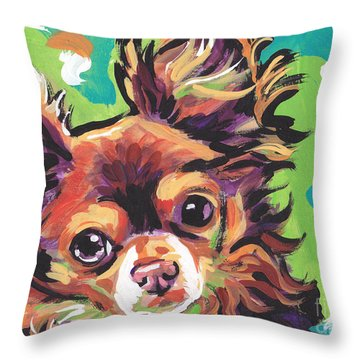 Sweet Choco Chi  Throw Pillow