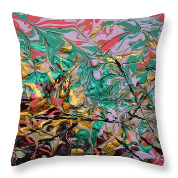 Sweet Confection Throw Pillow by Donna Blackhall