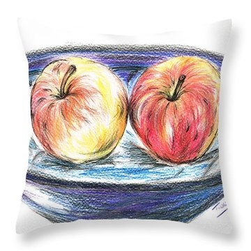 Sweet Crunchy Apples Throw Pillow by Teresa White