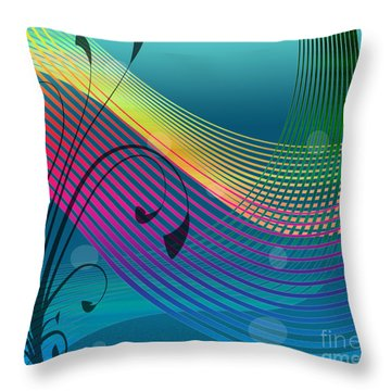 Sweet Dreams Abstract Throw Pillow by Megan Dirsa-DuBois