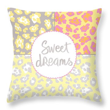Sweet Dreams - Animal Print Throw Pillow