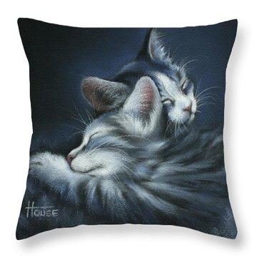 Throw Pillow featuring the drawing Sweet Dreams by Cynthia House