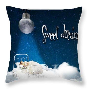 Sweet Dreams Throw Pillow by Juli Scalzi