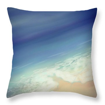 Sweet Dreams Of Salty Ocean Air Throw Pillow