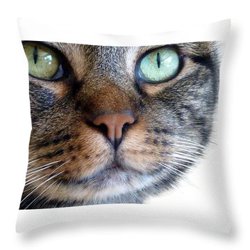 Sweet Green Eyes Throw Pillow