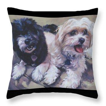 Sweet Havanese Throw Pillow by Lee Ann Shepard