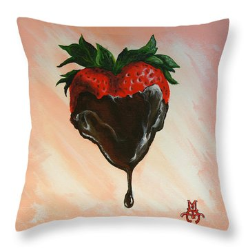 Sweet Heart Throw Pillow by Marco Antonio Aguilar
