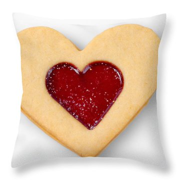 Sweet Heart - Symbol For Love Valentine Relationship Throw Pillow by Matthias Hauser