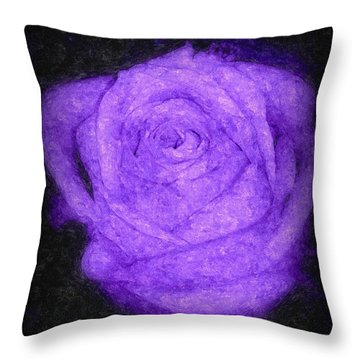 Sweet Lavender Rose Throw Pillow