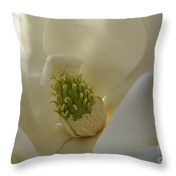 Sweet Magnolia Throw Pillow by Peggy Hughes