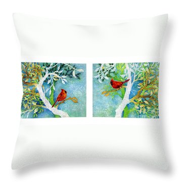 Sweet Memories Diptych Throw Pillow by Hailey E Herrera