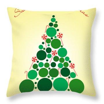 Sweet Merry Christmas Throw Pillow by Mark Ashkenazi