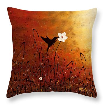 Sweet Nectar Throw Pillow by Carmen Guedez