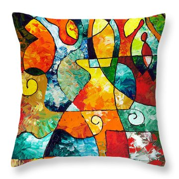 Sweet November Throw Pillow