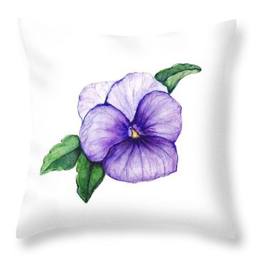 Throw Pillow featuring the painting Sweet Pansy by Heidi Kriel