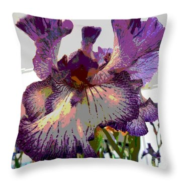 Throw Pillow featuring the photograph Sweet Purple by Sally Simon