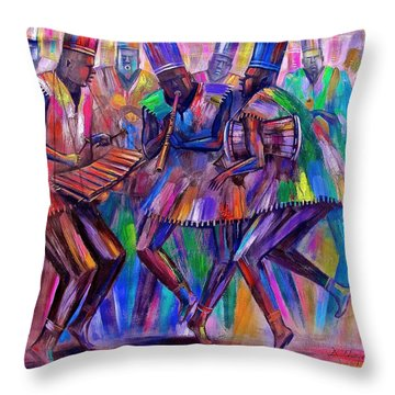 Sweet Rhythms Throw Pillow
