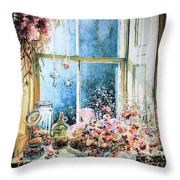 Sweet Scents To Savor Throw Pillow