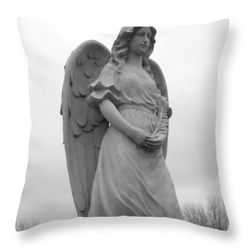 Sweet Seraphim Throw Pillow by Rachel E Moniz