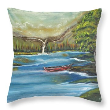 Sweet Serenity Throw Pillow by Tricia Concienne