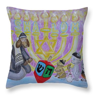 Sweet Shalom Throw Pillow