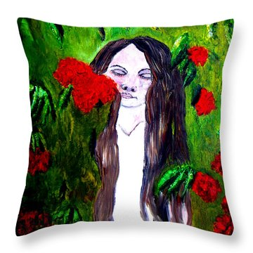 Sweet Smell Of  Flowers Throw Pillow