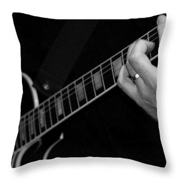 Sweet Sounds In Black And White Throw Pillow by John Stuart Webbstock