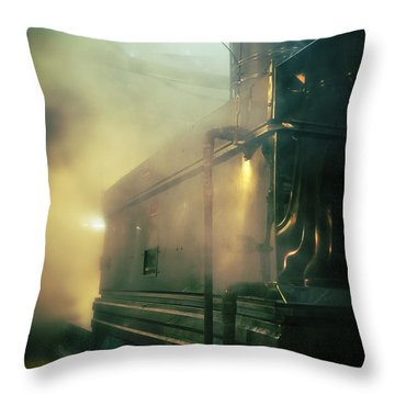 Sweet Steam Throw Pillow by Edward Fielding