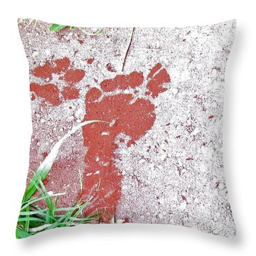 Throw Pillow featuring the photograph Sweet Steps by Charlotte Schafer