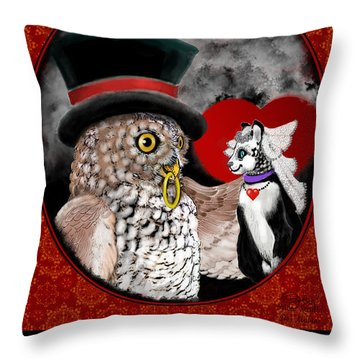 Sweet Sweethearts Throw Pillow by Carol Jacobs