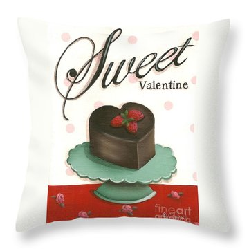 Sweet Valentine  Throw Pillow by Catherine Holman