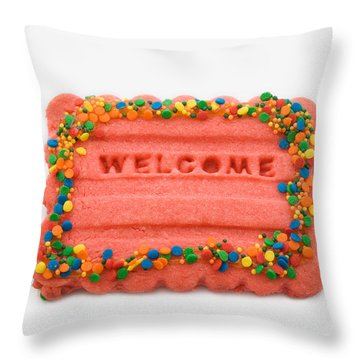 Sweet Welcome Mat Throw Pillow