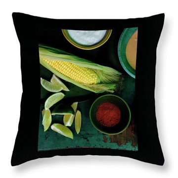 Sweetcorn And Limes Throw Pillow