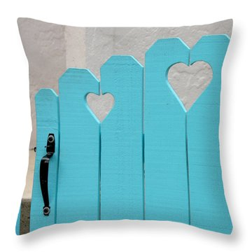 Sweetheart Gate Throw Pillow by Art Block Collections