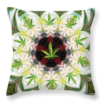 Sweetleaf Mandala Throw Pillow