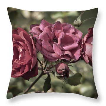 Sweetly Pink Throw Pillow by Christi Kraft