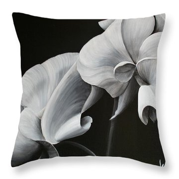 Sweetpea Blossoms Throw Pillow