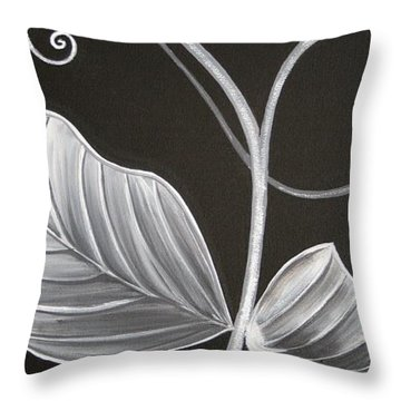 Sweetpea Vine Throw Pillow