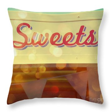 Sweets Throw Pillow by Valerie Reeves
